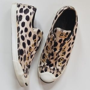 Converse Jack Purcell Animal Print Sneakers